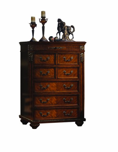 Acme 10256 Tall Chest, Cherry Finish front-1018644