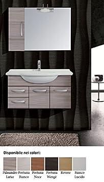 mobile da bagno moderno con lavabo con Specchio Nadia 85 Arredo Bagno composizione sospeso