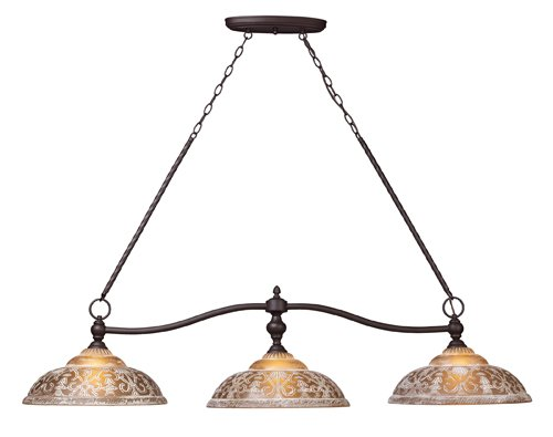 B0037UAOX8 Landmark 66195-3 Norwich 3-Light Billiard Light, 14-Inch, Oiled Bronze