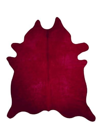 Natural Brand Geneva Cowhide Rug, Burgundy, 6' x 7'