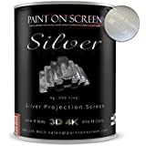 Paint On Screen Projector Screen Paint S1 Screen Plus SIlver - Gallon Silver - Gallon