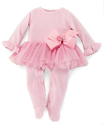 Mud Pie Baby-Girls Newborn Velour Sleep With Tutu, Pink, 0-3 Months front-563014