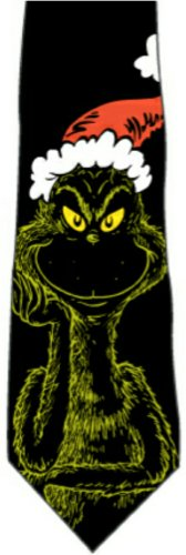 The Grinch Dr Seuss Santa Hat Christmas New Novelty Tie
