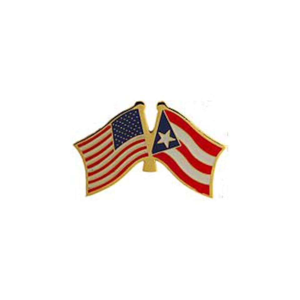 American & Puerto Rico Flags Pin 1