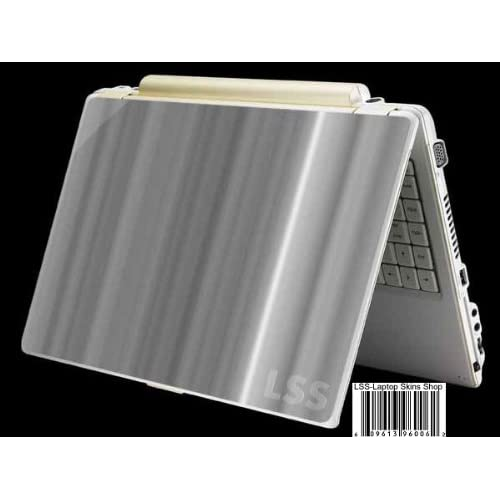 Laptop Skin Shop Laptop Notebook Skin Sticker Cover Art Decal Fits 13.3 14 15.6 16 HP Dell Lenovo Asus Compaq (Free 2 Wrist Pad Included) White Grey Simple