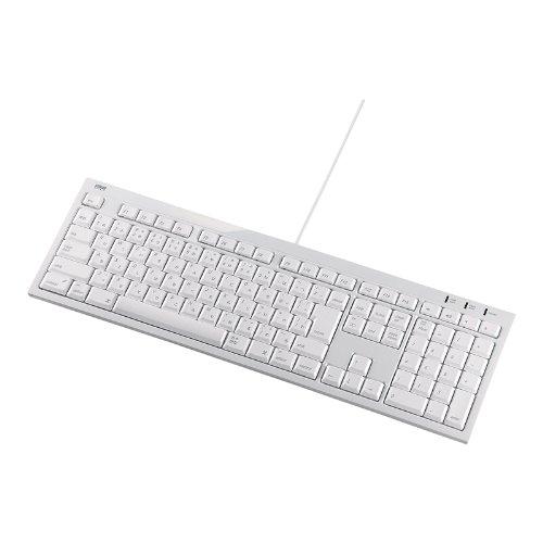 SANWA SUPPLY SKB-MAC2W MACキーボード ホワイト