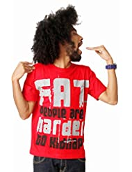 Attabouy Faatso Mens Cotton T-shirt-Red
