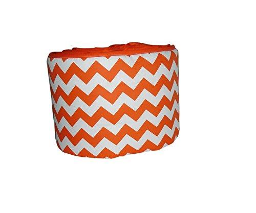 Baby Doll Chevron Crib Bumper, Orange
