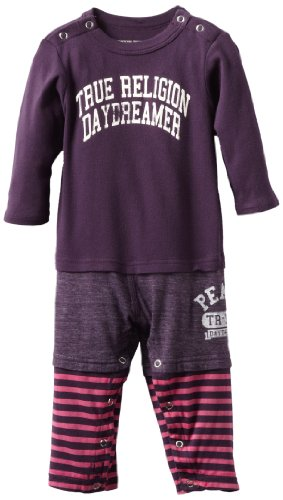 Best True Religion Baby-Girls Infant Three Piece Bodysuit, Eggplant, 6-12 Months  Best Offer