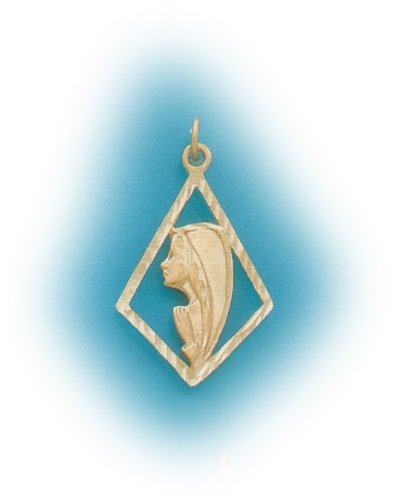 14k Blessed Mother Pemdant (yellow gold)