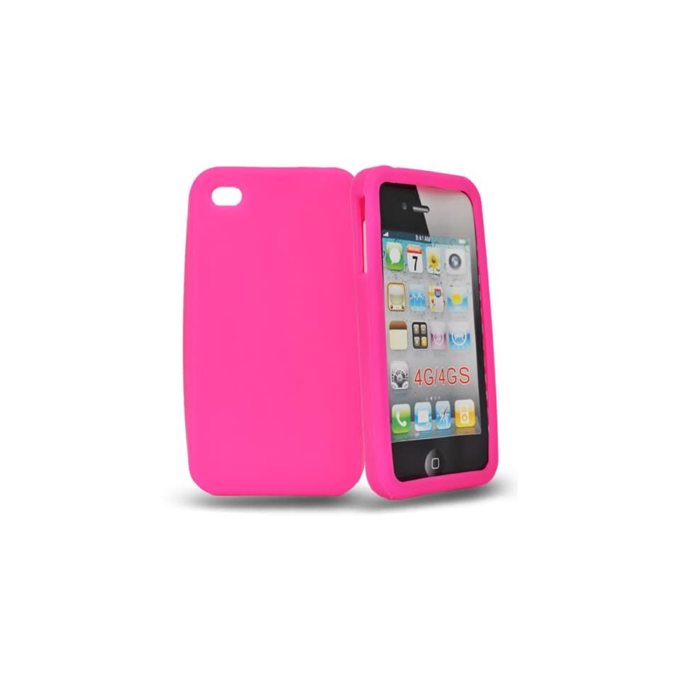 Mobile Palace  Pink silicone case cover for apple iphone 4s