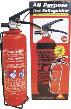 1 Kg Fire Extinguisher Dry Power for Caravans, Motorhomes, Boats or Car.