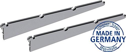 IB-Style - Regalsystem EASY TWIN Drahtbodenträger | Pro Stück | silbermatt | 320 mm | Made in Germany | TÜV geprüft | GS Zeichen |Wandleiste Wandschiene Träger Halterung