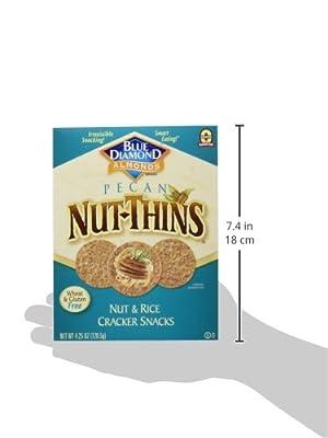 Blue Diamond, Pecan Nut-Thins, Nut & Rice Cracker Snacks, 4.25 oz (120.5 g) by Blue Diamond