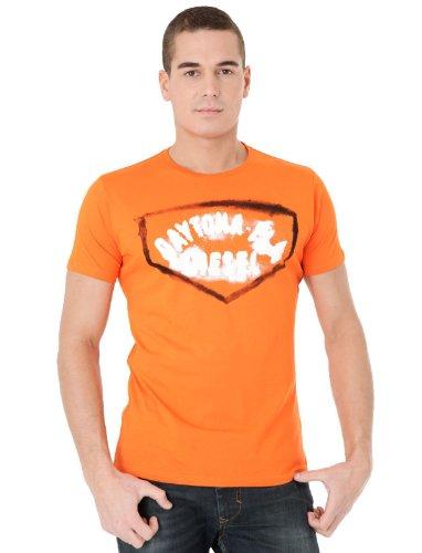 Diesel T-freis-rs 34h Straight Orange Man T-shirts Make Men - L