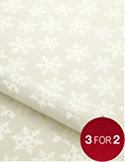 Gold Snowflake Christmas Wrapping Paper