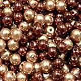50 pieces 10mm Glass Pearl Beads - Chocolate Mix - A1231