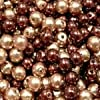200 pieces 4mm Glass Pearl Beads - Chocolate Mix - A0938