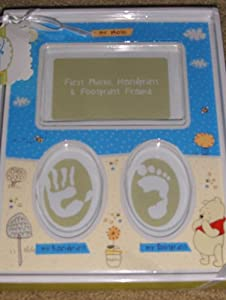Disney Winnie The Pooh Babys First Photo, Handprint & Footprint Frame