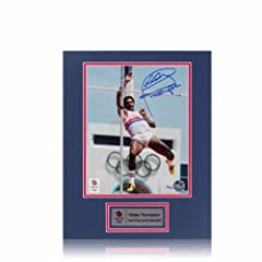 Buy Daley Thompson Signed Mounted Photograph: Olympic Champion (Pole Vault) by exclusivememorabilia.com