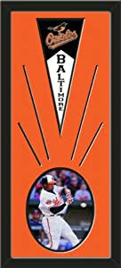 Baltimore Orioles Wool Felt Mini Pennant & Adam Jones Action Photo - Framed With... by Art and More, Davenport, IA