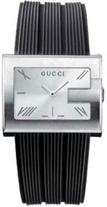 Gucci 100 G-Rectangle Ladies Watch - YA100507