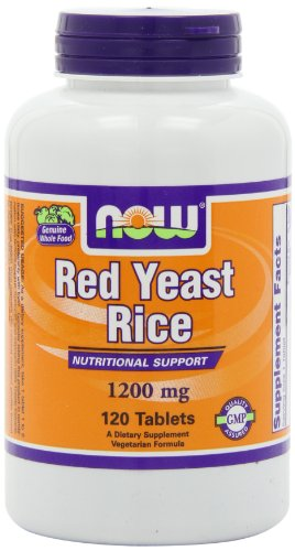 NOW Foods Red Yeast Rice Extract 1200mg, 120 Tablets (Rice Extract compare prices)
