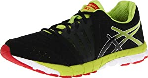 ASICS Men's GEL-Lyte33 2 Running Shoe,Black/Lime/Red,10.5 M US