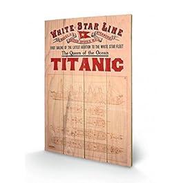 Titanic - The Queen Of The Ocean Cuadro De Madera (60 x 40cm)