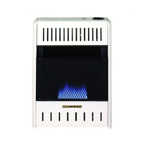 PROCOM Blue Flame Wall Heater - 10,000 BTU Output, 300 Sq. Ft. Heating Capacity (Procom Blue Flame Heater Blowers compare prices)