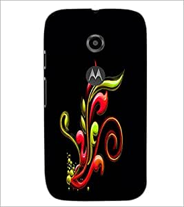 PrintDhaba Pattern D-2336 Back Case Cover for MOTOROLA MOTO E2 (Multi-Coloured)