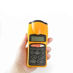 Fuloon Ultrasonic Tape Measure Distance Meter With Laser Pointer