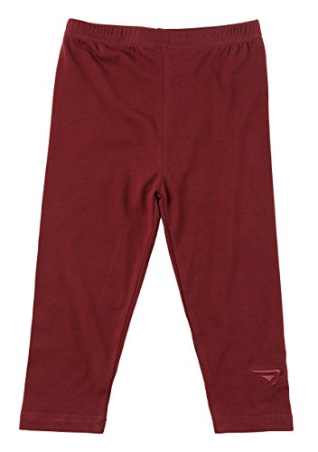 Sportoliu00ae Baby Girls and Toddlers Cotton Blend Jersey Knit Solid Long Leggings - Maroon (Size 3T ...
