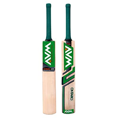 Avm Ontario Kashmir Willow Cricket Bat-Green (SH)