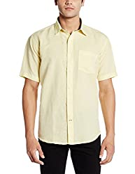 Greenfibre Men's Casual Shirt (89IT_40_Light Yellow)