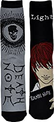 Anime Death Note Unisex Crew Socks 2 Pack-One Size-Death Note/Light
