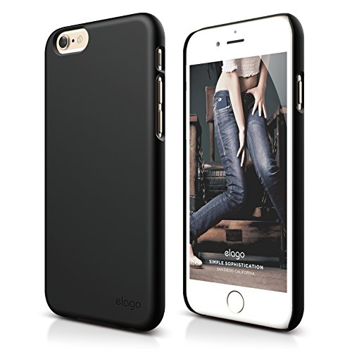 iPhone 6S Plus Case, elago S6+ Slimfit2 Case for the iPhone 6/6S Plus (5.5inch) - eco friendly Retail Packaging (Soft feel Black) (Iphone 6 Plus Case Flat Sides compare prices)