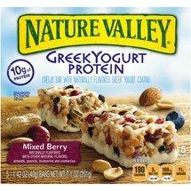 Nature Valley, Greek Yogurt Protein Bars, Mixed Berry, 7.1oz Box (Pack of 4)