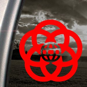 EPCOT Red Decal DISNEY Car Truck Bumper Window Red Sticker