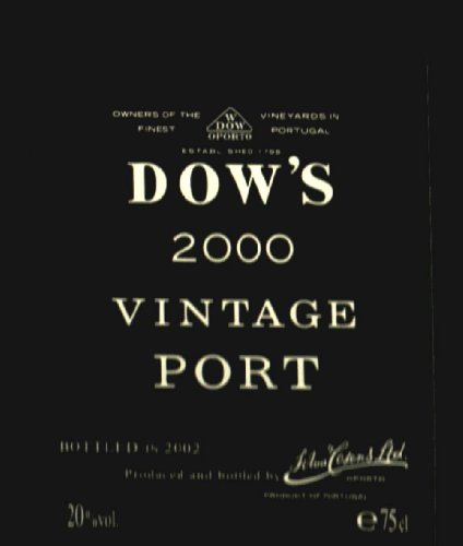 2000 Dow Vintage Port 750 Ml