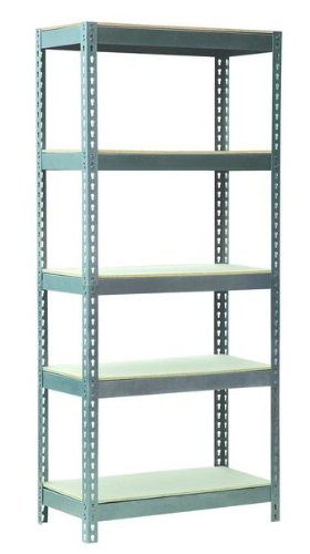 5 Tier Silver Heavy Duty Steel Frame 500kg Capacity Shelving Racking 1800H 1600W 500D for Garage Workshop Warehouse Powder Coated
