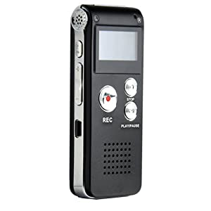 Multifunctional Rechargeable 8GB 650HR Digital Audio Voice Recorder Dictaphone MP3 Player