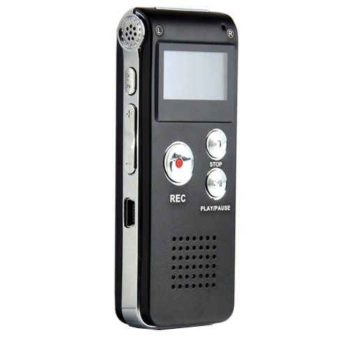 Multifunctional Rechargeable 8G 8GB 650HR Digital Audio Voice Recorder Dictaphone MP3 Player FM
