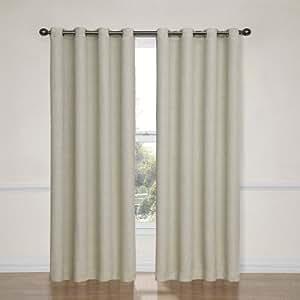 Eclipse Bobbi Grommet Blackout Window Curtain Panel 84 Inch Ivory Home Kitchen