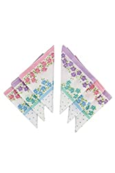 Klair Printed Cotton Handkerchief For Womens (Pack Of 6)