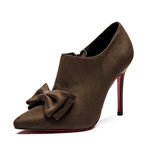 Chaussures de proue Lady sweet pour l'automne/hiver/Élégants escarpins pointus