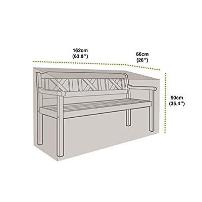 Gardman Schutzhülle für 3 Sitzer Bank, 89 x 162 x 66 cm, grün von Gardman bei Gartenmöbel von Du und Dein Garten