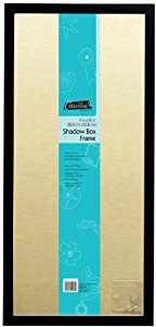 MCS 9x20 Inch Linen Lined Shadow Box in Black Finish
