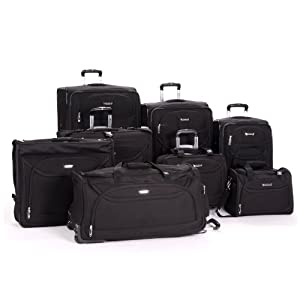 "Delsey Helium Fusion Lite 2.0 4 Piece Luggage Set ""Black"""