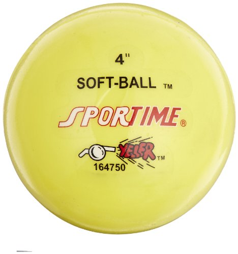 Sportime Super-Safe Softballs - 4 Inches - Yellow - 1